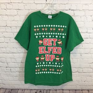 """""""Get Elfed Up"""" Spencer Gifts Holiday Shirt"""